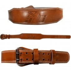 "ADii Genuine Leather 4"" Padded Weight Lifting Belt | Back Gym Strap"