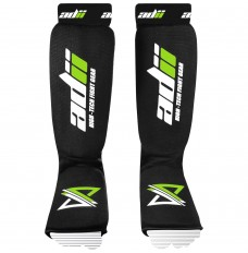 "ADii "" FLEX "" Elasticated 100% Cotton MMA Shin Instep Guards / Shin Protectors"