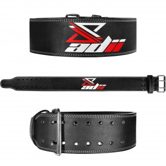 "ADii Genuine Leather Power lifting Belt 4"" Wide"